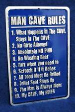 Man Cave Modern Home Décor Plaques & Signs