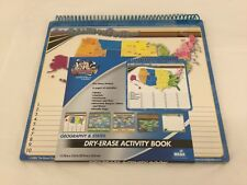 Learn The States Geography and States Dry Erase Activity Book
