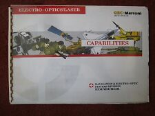 BROCHURE GEC MARCONI AVIONICS ELECTRO OPTIC LASER NAVIGATION ARMY NAVY AIR FORCE