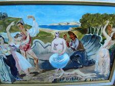 """St CYRAN (36) """"L'amour et la danse""""H/ s/papier marouflée-BERTHOMME ST-ANDRE 1938"""