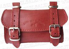 BORSA PELLE Rosso BORSELLO BICI BICICLETTA SOTTOSELLA VINTAGE Leather Tools Bags