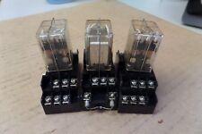 3-MATSUSHITA ELECTRIC RELAY AP32329 24Vdc 3A A AMP HC3-DC24V W/HC3-SFD BASE