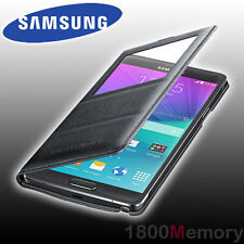 Genuine Samsung Galaxy Note 4 Sm-n910 Wireless S View Cover Black Charger Pad