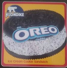 Klondike Oreo Sandwich  Ice Cream Truck Sticker New