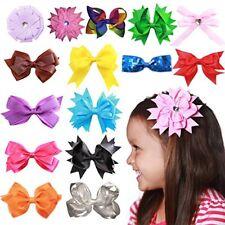 Conjunto De Lazos De Cabello Para Niñas Clips Grosgrain Satén Colores Variados