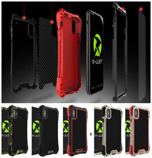 R-Just Shockproof Outdoor Carbon Fiber Metal Case Cover Shell For iPhone Samsung