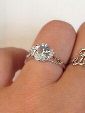 anello donna oro bianco 18 KT 750 % artlinea acquamarina e diamanti mis 13 ad551
