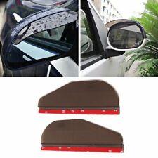 2pcs Universal Car Rear View Side Mirror Rain Sun Snow Shielding Cover Smoke
