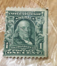 Benjamin Franklin Stamp 1907 1 CENT STAMP