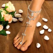 Gold Ankle Anklet Heart Love Chain Bracelet Beach feet Foot Jewelry for Women's