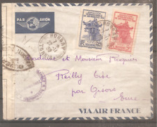 LETTRE INDOCHINE FRANCE COLONIE 1939 OBLITERE USED HONGAY TONKIN CENSURE