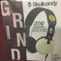 Skullcandy Grind Headphones Headset w/Built-In Mic Remote (Black/Cream)