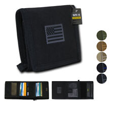 RapDom мужские Tri-Fold бумажник тактический антипригарный идентификатор окна 18 отсека/карман