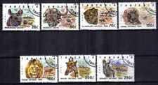 Animaux Faune sauvage Tanzanie (21) série complète 7 timbres oblitérés