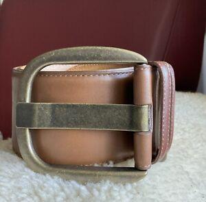 Veronika Maine/ Cue Wide Genuine Leather Belt In Tan/ Brown RRP$149 Accessories