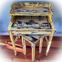Shabby Chic Desk, Rustic, Yellow Desk, Distressed, Vintage, Farmhouse Desk