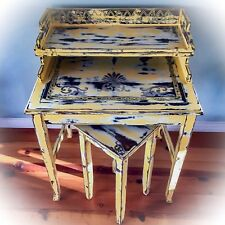 Shabby Chic Desk, Rustic, Yellow Desk, Distressed, Vintage, Farmhouse Desk