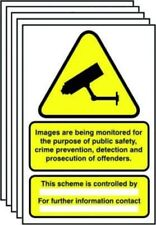 PACK OF 10 DATA COMPLIANT - GDPR CCTV SIGN SIZE A4 RIGID WARNING SIGN