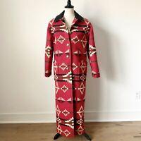 Pendleton Crystal Lake Jacquard Wool Blanket Coat Sz S Excellent Condition