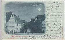 (113463) AK Ulm, Klein Venedig, Mondscheinkarte 1897