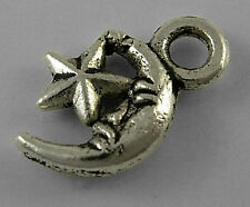 9g (Approx 30pcs) Tibetan Silver Colour Moon and Star Charm
