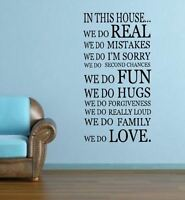WE DO IN THIS HOUSE Home Decor  Wall Decals & Stickers Wall Quote Mural
