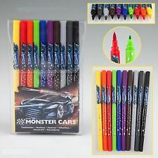 Create Your Monster Cars Pack of 10 Double-Ended Felt Tip Coloured Pens