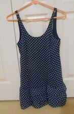 Abercrombie Kids Navy Polka Dots Spaghetti Strap Dress Sz Medium