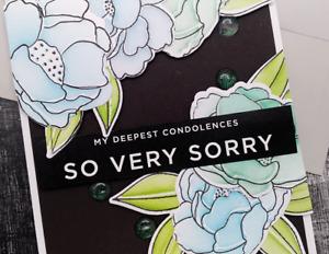 Handmade Greeting Card My Deepest Condolences So Very Sorry Sympathy A2 Size