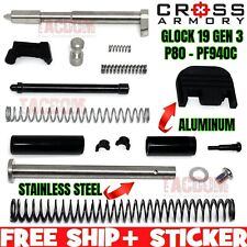 CROSS ARMORY UPGRADED Upper Slide Parts Kit for Glock 19 GEN 3 / P80 PF940C 9mm