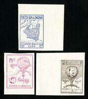 Belgium Stamps 1939 Baloon Set VF OG Hinged Imperforate