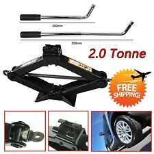 Wheel Lug Wrench + Scissor Jack with Handle 2 Ton Car Spare Tire Tools Universal