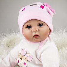 22'' Lifelike Newborn Silicone Vinyl bambole Reborn Gift Baby Dolls Full Body it