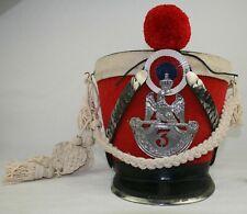 Tschako Frankreich 3. Regiment Ehrengarde Offizier Napoleon Bonaparte ungetragen