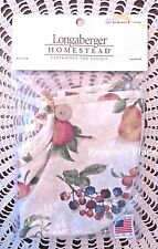 Longaberger Medium Woven Memories Basket Liner Fruit Medley 2007  New In Package
