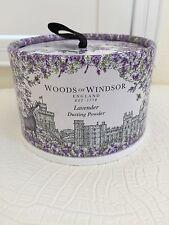 New WOODS OF WINDSOR ENGLAND LAVANDE LAVENDER Dusting Powder 3.5 oz/100g NIB