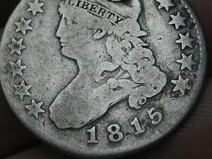 1815 Capped Bust Quarter 25 Cent Piece- VG Details