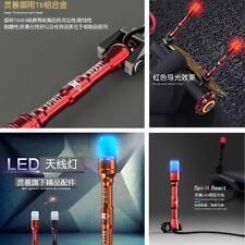 1x Red/Black Cool styling Waterproof Antenna Luminous Glue Cover LED light 1.1m