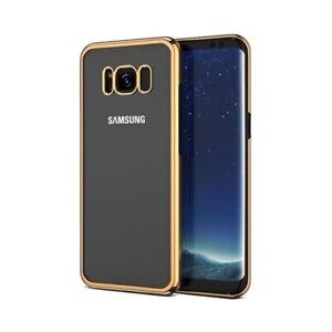 Samsung G950 Galaxy S8 Gel Case With Chrome Effect Trim - Gold