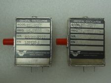 Lot of 2 Vectron Model: 254-2357 Crystal Oscillators P/N: 129235-1 45.57888 MHz