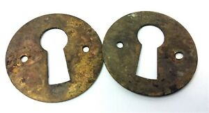Small Key Hole Skeleton Key Covers Dresser Furniture Hardware Parts Escutcheons