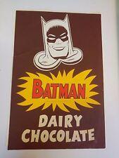 Batman Dairy Chocolate Art Poster 1966