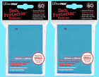 120 Ultra Pro DECK PROTECTOR LIGHT BLUE Card Sleeves YUGIOH gaming small size