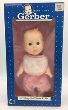 Vintage Gerber Baby Doll Drink Wet Sleep Eyes Jointed Plastic 1989 2 Outfits 11""