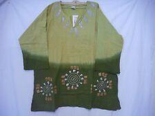Vintage Men women African Mudcloth dashiki Shirt Blouse Organic Cotton One size