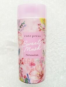 CUTE PRESS SWEET MUSK PERFUMED TALC TALCUM FRAGRANCE BODY POWDER 100G.