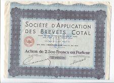 N°7220 / action de la Sté d'application des brevets Cotal