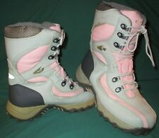 GC Roxanne Sz 9 all weather tie up hiking boots pink gray  cold weather