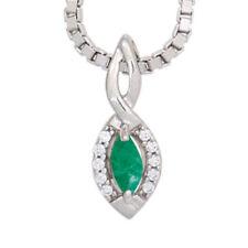 Diamant Echtschmuck-Anhänger mit Smaragd