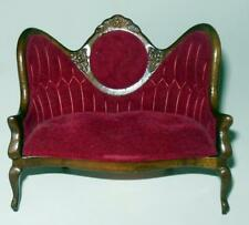 LOVE SEAT VINTAGE MUSEUM COLLECTION #738 DOLLHOUSE FURNITURE MINIATURES